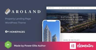 Aroland - Single Property Landing Page WordPress Theme 3