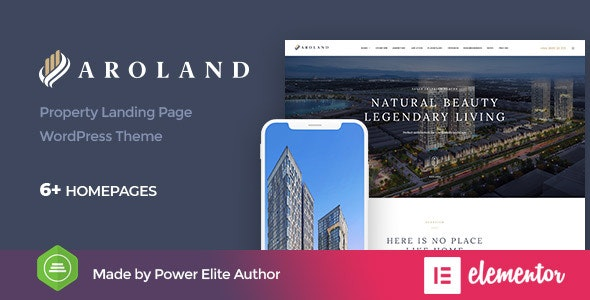 Aroland - Single Property Landing Page WordPress Theme 4
