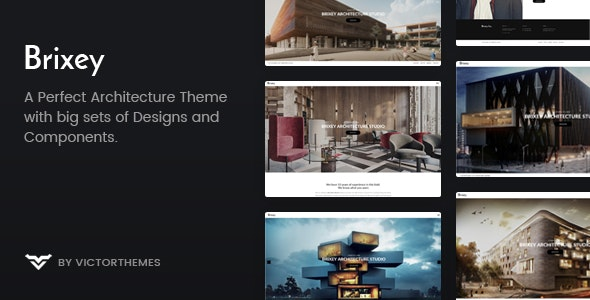 Brixey – Responsive Architecture WordPress Theme 2