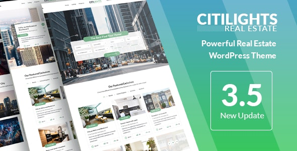 CitiLights - Real Estate WordPress Theme 1
