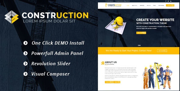 Construction – WordPress Theme for Renovation Business 1