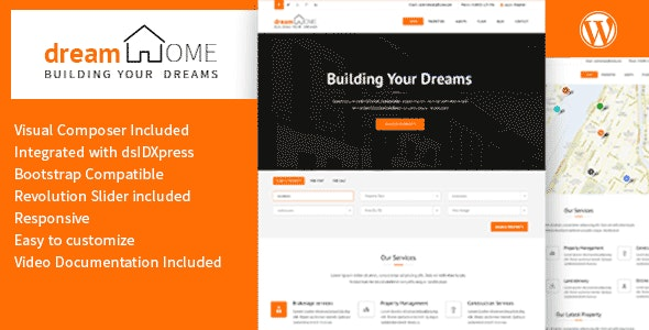 Dream Home - Real Estate WordPress Theme 1