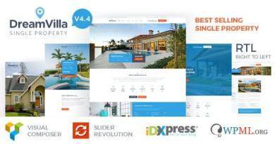 DreamVilla - Single Property Real Estate WordPress Theme 3