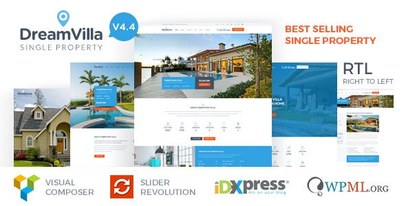 DreamVilla - Single Property Real Estate WordPress Theme 1