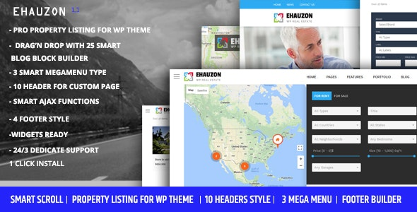 Ehauzon - Property Listing for WordPress Theme 1