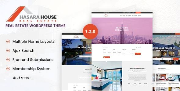 Hasara House - Real Estate Responsive WordPress Theme 1