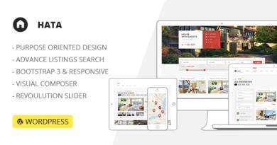 HATA: Responsive Modern Real Estate WordPress Theme 4