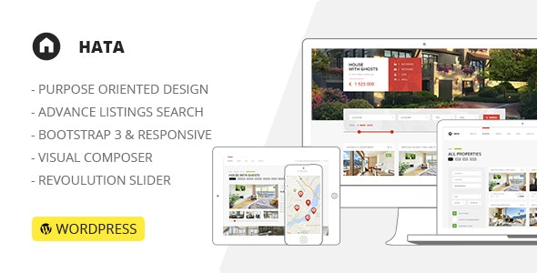 HATA: Responsive Modern Real Estate WordPress Theme 1