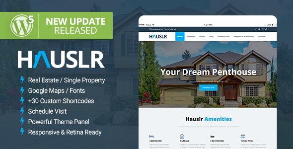 Hauslr - Single Property WordPress Theme 1