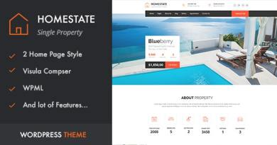 HOME STATE - Single Property Real Estate WordPress Theme 3