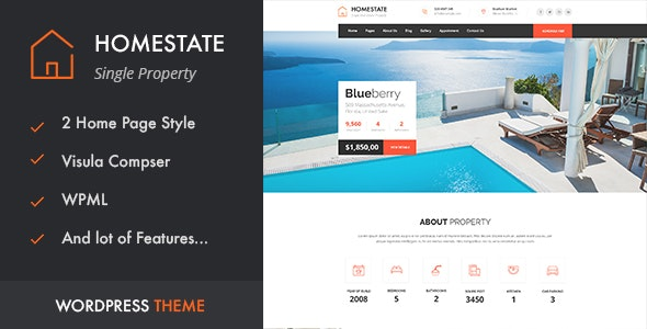 HOME STATE - Single Property Real Estate WordPress Theme 6