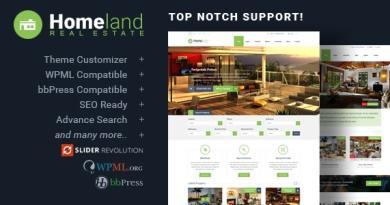 Homeland - Responsive Real Estate Theme for WordPress 3