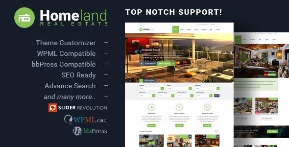Homeland - Responsive Real Estate Theme for WordPress 1