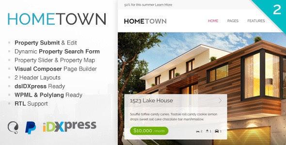Hometown - Real Estate WordPress Theme 1
