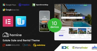 Homine – Real Estate WordPress Theme 4