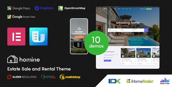 Homine – Real Estate WordPress Theme 1