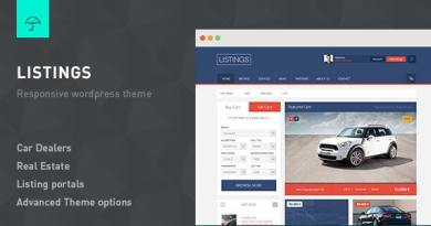 Listings - WordPress Responsive Listings Theme 3