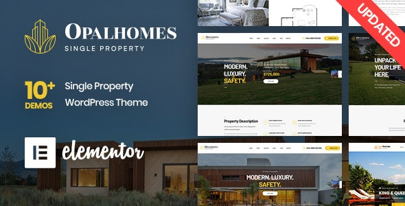 Opalhomes - Single Property  WordPress Theme 1
