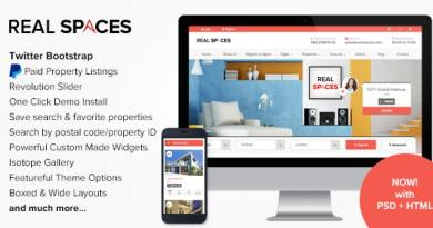 Real Spaces - WordPress Properties Directory Theme 2