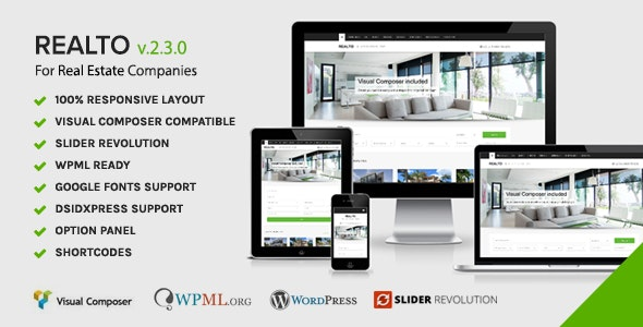 Realto - WordPress Theme for Real Estate Companies 2
