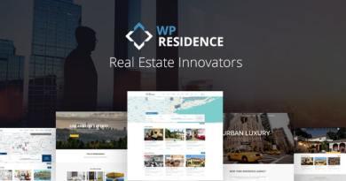 Residence Real Estate WordPress Theme 3