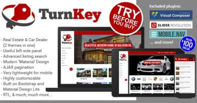 TurnKey Real Estate and Car Dealership Responsive Material Design WordPress Theme 3