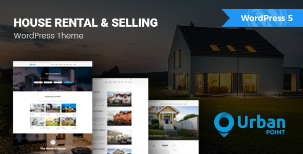 UrbanPoint - House Selling & Rental WordPress Theme 3
