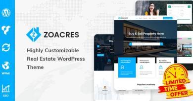 Zoacres - Real Estate WordPress Theme 14