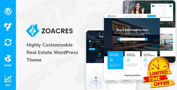 Zoacres - Real Estate WordPress Theme 1