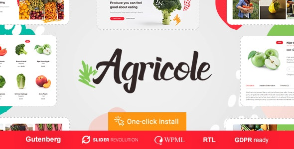 Agricole - Organic Food & Agriculture WordPress Theme 1