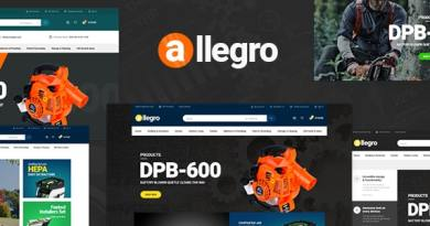 Allegro - WooCommerce WordPress Theme for Equipment Stores 3