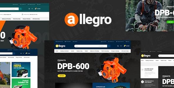 Allegro - WooCommerce WordPress Theme for Equipment Stores 1