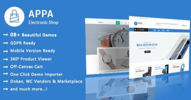 Appa | Electronics & Watches WooCommerce WordPress Theme 13