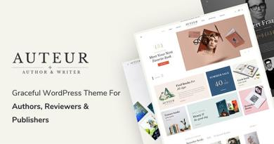 Auteur – WordPress Theme for Authors and Publishers 3