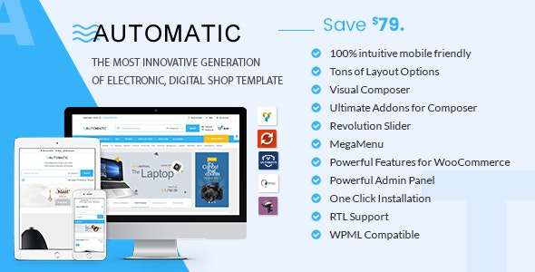 Automatic - WooCommerce Theme for Electronic, Computer, Digital Store 1