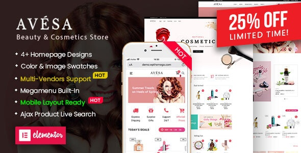 Avesa - Beauty & Cosmetics Store WooCommerce WordPress Theme (Mobile Layout Ready) 3