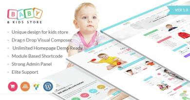 Baby & Kids Store eCommerce Woocommerce WordPress Theme 3