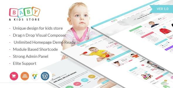 Baby & Kids Store eCommerce Woocommerce WordPress Theme 3