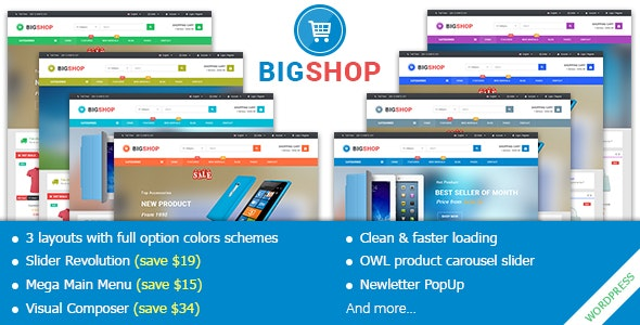 BigShop - Responsive Multi-Purpose Woocommerce WordPress Theme 1