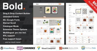 Bold. - A responsive WordPress & WooCommerce Theme 2