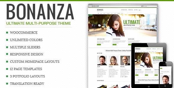 Bonanza - Responsive Multi-Purpose WordPress Theme 9