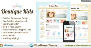 Boutique Kids Creative WordPress Theme 4