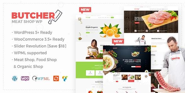 Butcher - Meat Shop WooCommerce WordPress Theme 1