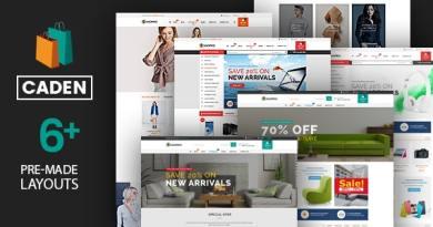 Caden - Mega Store Responsive WordPress Theme 2