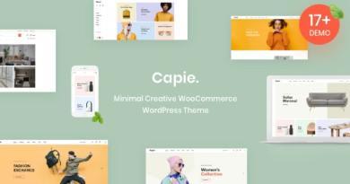 Capie - Minimal Creative WooCommerce WordPress Theme 2