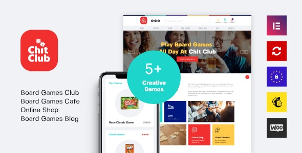 Chit Club | Board Games Club & Anticafe WordPress Theme 1
