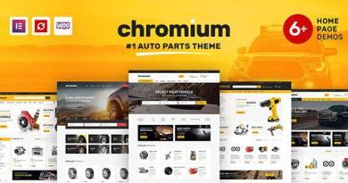 Chromium - Auto Parts Shop WordPress WooCommerce Theme 3
