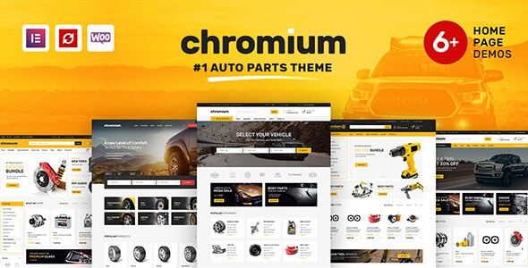 Chromium - Auto Parts Shop WordPress WooCommerce Theme 1