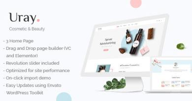 Cosmetic & Beauty Shop WordPress WooCommerce Theme 3