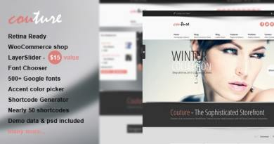 Couture WordPress WooCommerce Theme 3